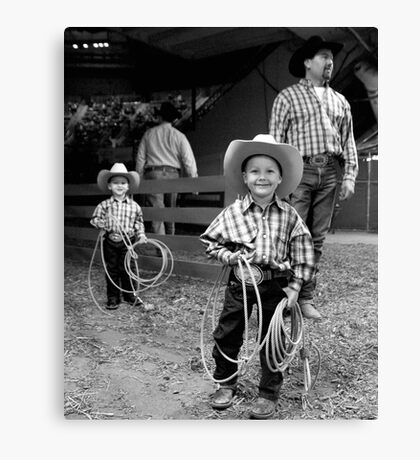 Roping Family Canvas Print