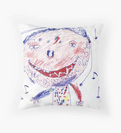 Music Boy Throw Pillow