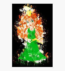 Princess queen crown watercolor painted Photographic Print