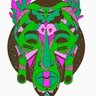African Mask 1 - Green Edition by kenallouis