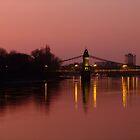 Hammersmith Bridge at sunset by Themis