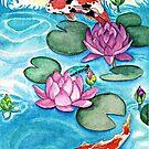 Jumping Koi Fish by EverIris