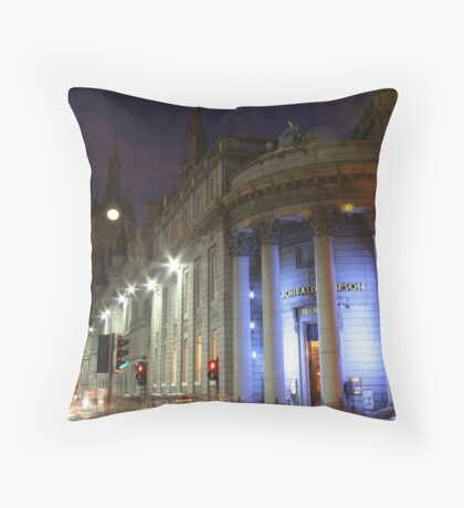 Evening lights red and blue Throw Pillow