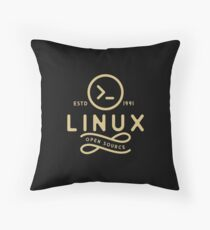 Linux - Linux T-Shirt. As a special gift. Throw Pillow