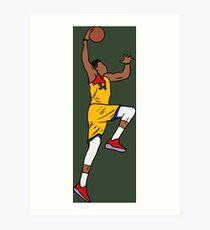 Giannis Antetokounmpo Slam Dunk Art Print