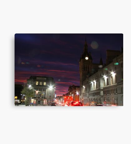 Union Street in the glow of the evening Canvas Print