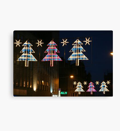 Scottish Christmas Canvas Print