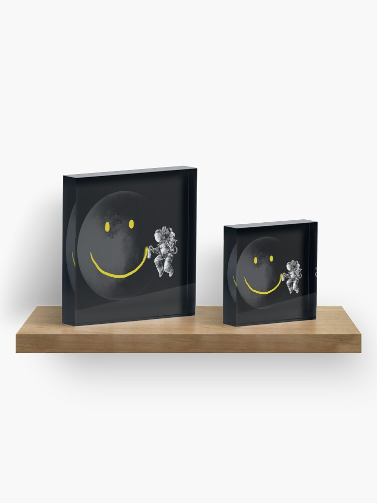 Alternate view of Make a Smile Acrylic Block