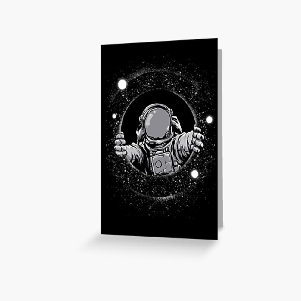 Schwarzes Loch Grußkarte