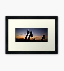 Sunrise over Cascade Valley Framed Print