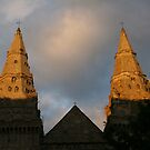 Spires of St Machar Cathedral in the evening by christopher363