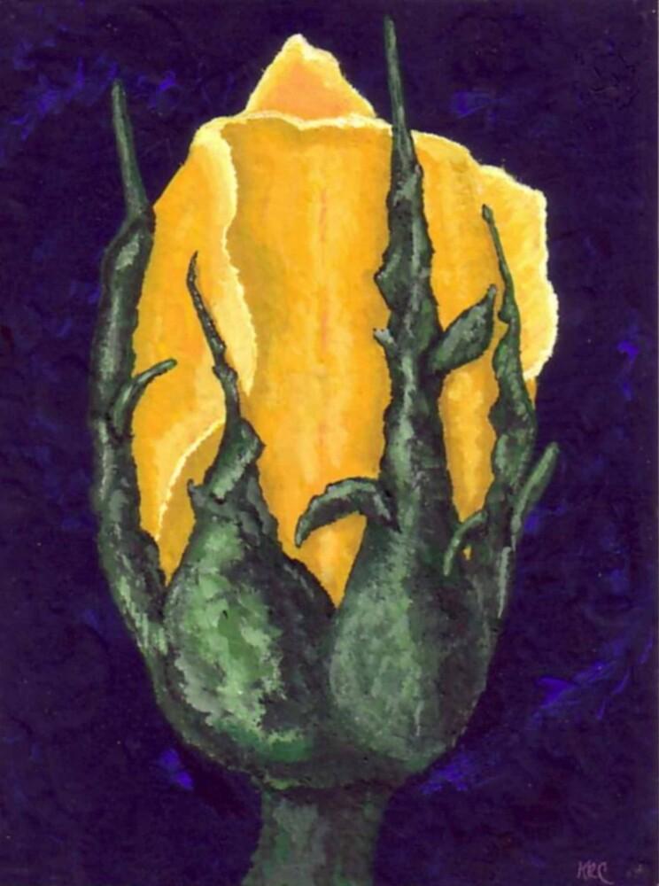 Yellow Rosebud 3 by Karirose