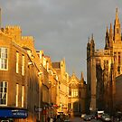 St Marischal Building and Upperkirkgate in the winter sun by christopher363