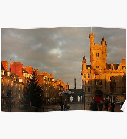 Castlegate in a warm winter glow Poster