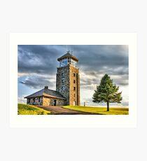 The Observation Tower at Quabbin Reservoir Art Print