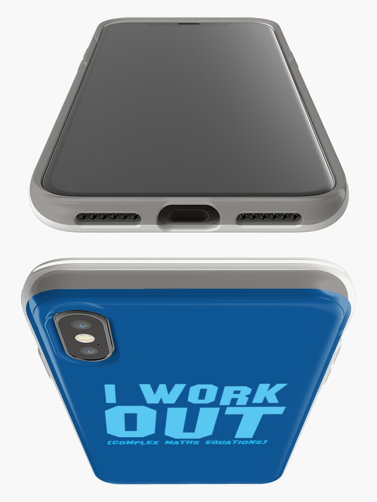Alternate view of I WORK OUT (complex maths equations) iPhone Case & Cover