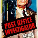 Vintage Hollywood Nostalgia Post Office Investigator Film Movie Advertisement Poster by jnniepce