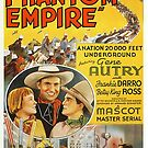 Vintage Hollywood Nostalgia The Phantom Empire Gene Autry Film Movie Advertisement Poster by jnniepce
