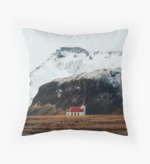 Tiny Icelandic Church Throw Pillow