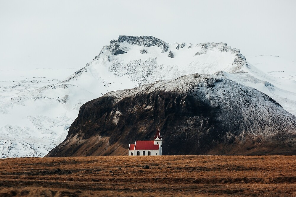 Tiny Icelandic Church by marinaweishaupt