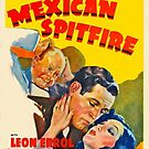 Vintage Hollywood Nostalgia Mexican Spitfire Film Movie Advertisement Poster by jnniepce