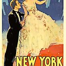 Vintage Hollywood Nostalgia New York Nights Film Movie Advertisement Poster by jnniepce