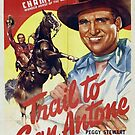 Vintage Hollywood Nostalgia Trail to San Antone Gene Autry Film Movie Advertisement Poster by jnniepce