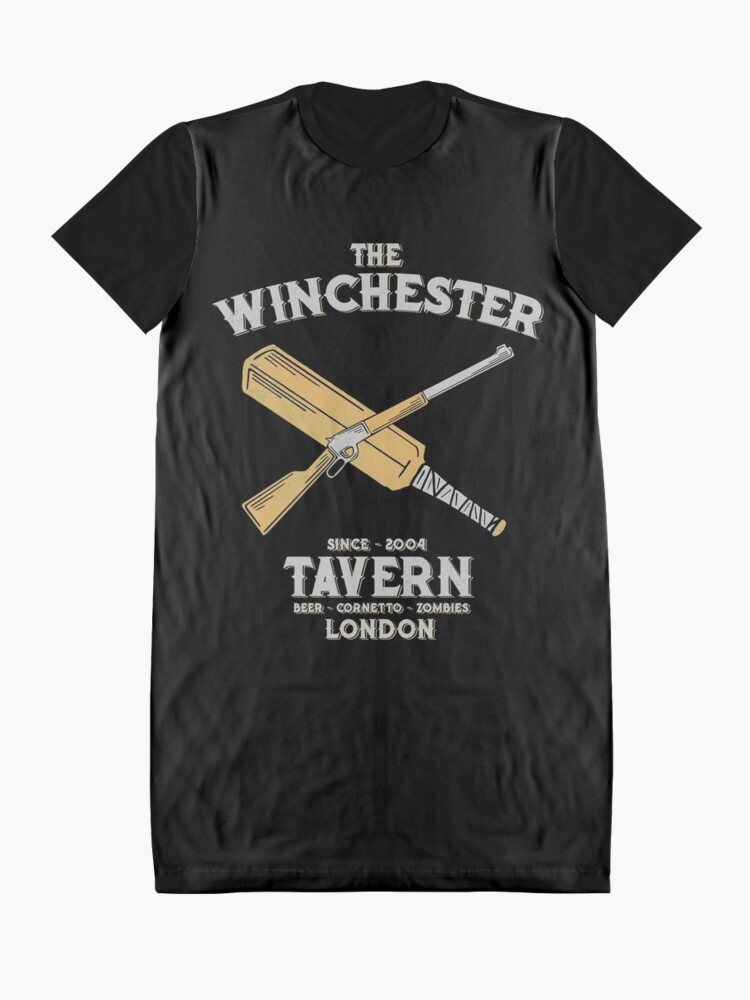 Vista alternativa de Vestido camiseta The winchester Tavern