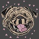 Happy Smiling Pug by k9printart