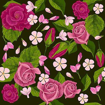 pattern of roses by lisenok
