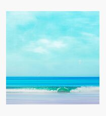 Green Wave - Abstract seascape Photographic Print