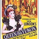 Vintage Hollywood Nostalgia Queen of the Yukon Film Movie Advertisement Poster by jnniepce