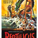 Vintage Hollywood Nostalgia Reptilicus Film Movie Advertisement Poster by jnniepce