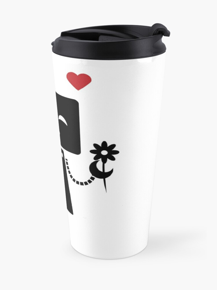 Alternate view of Robot With Flower Travel Mug