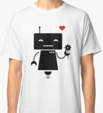 Robot With Flower Classic T-Shirt