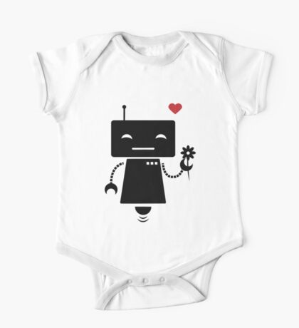 Robot With Flower Kids Clothes