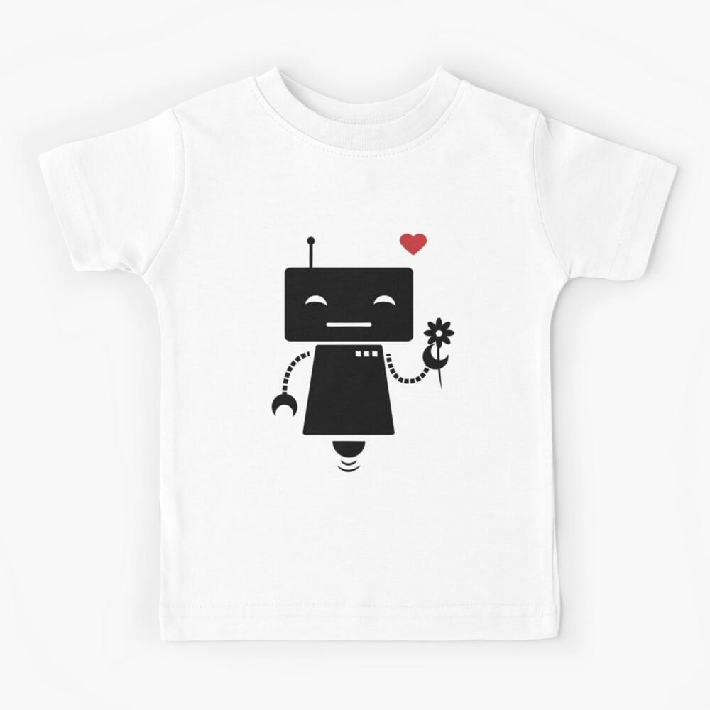 Robot With Flower Kids T-Shirt
