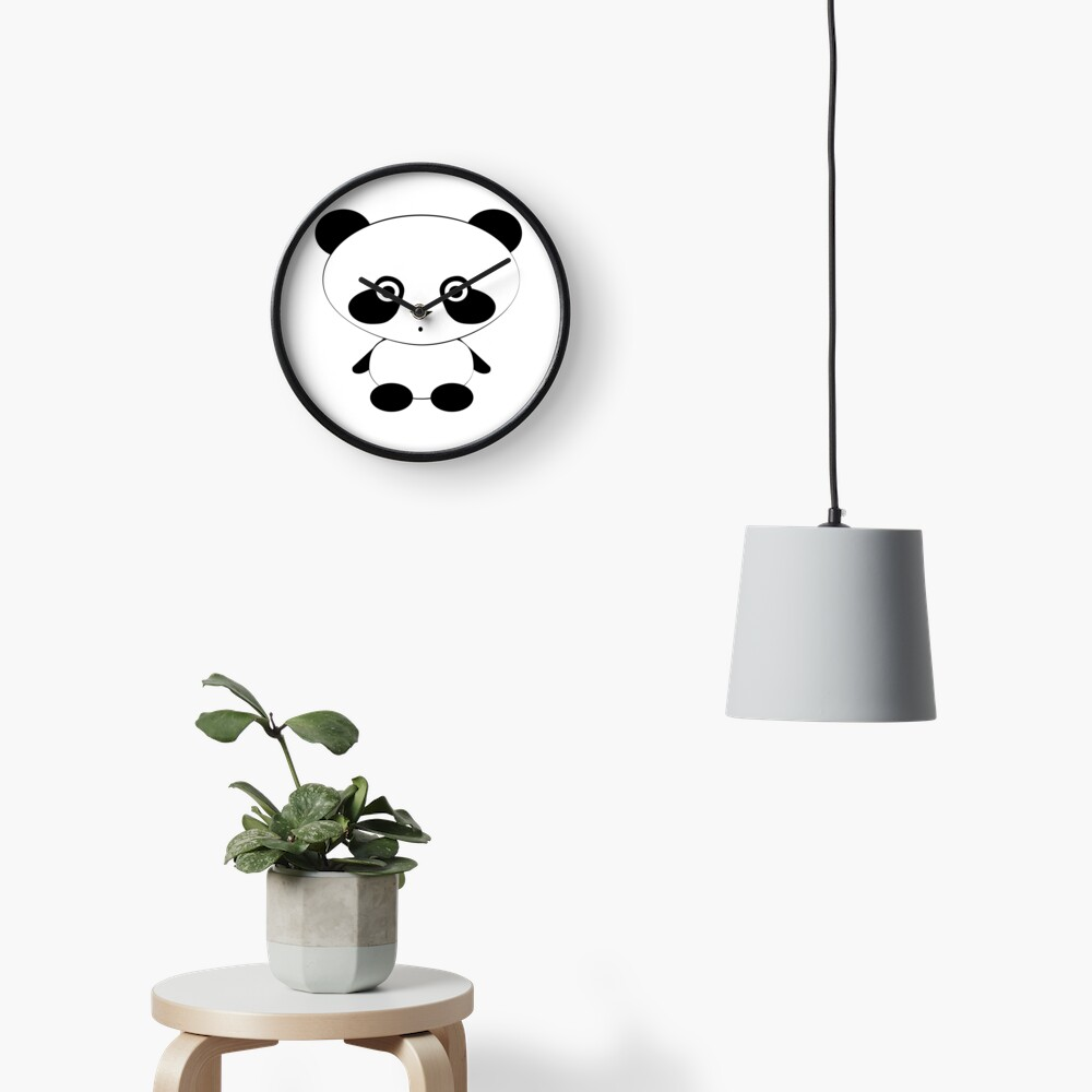 Cute Panda Bear Clock