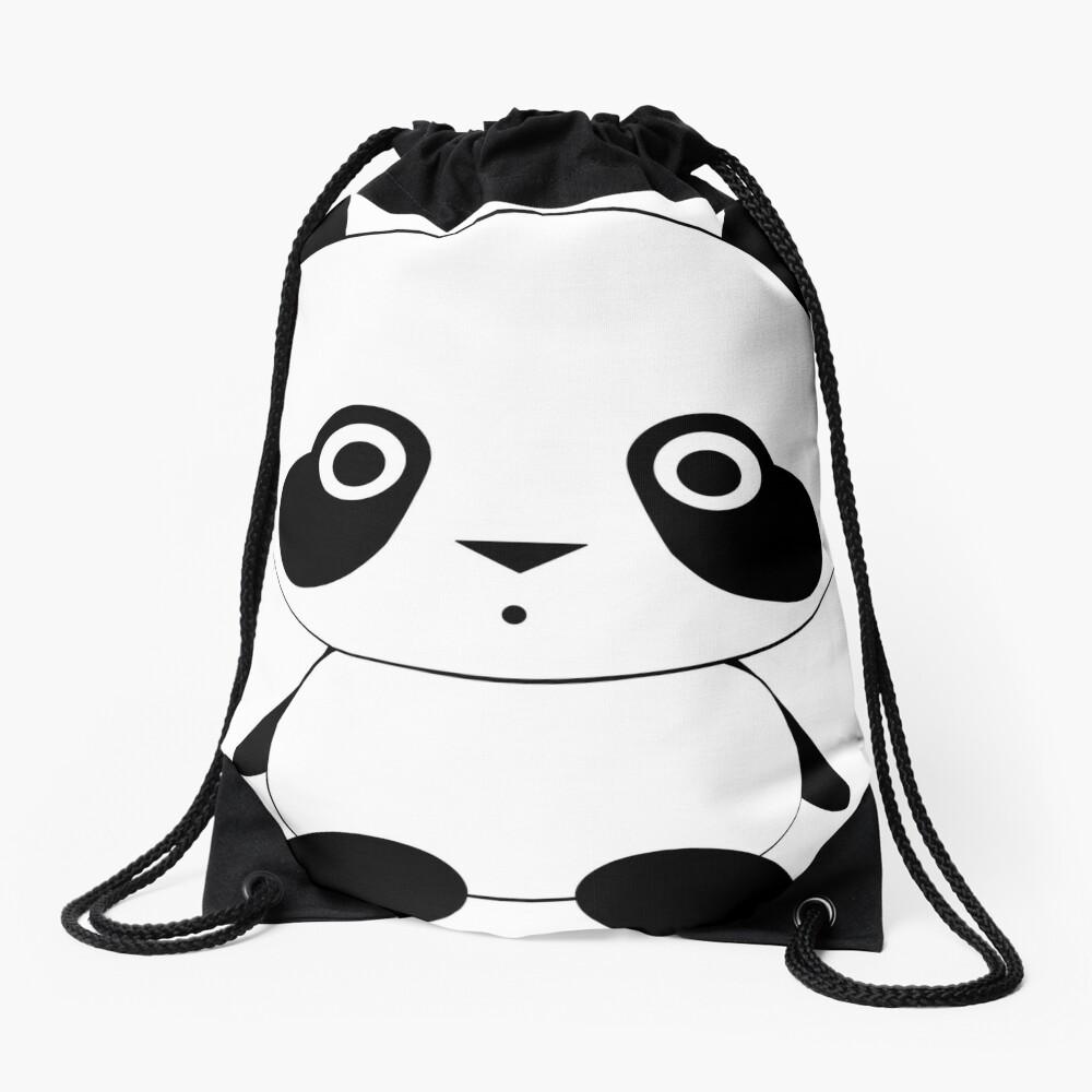 Cute Panda Bear Drawstring Bag