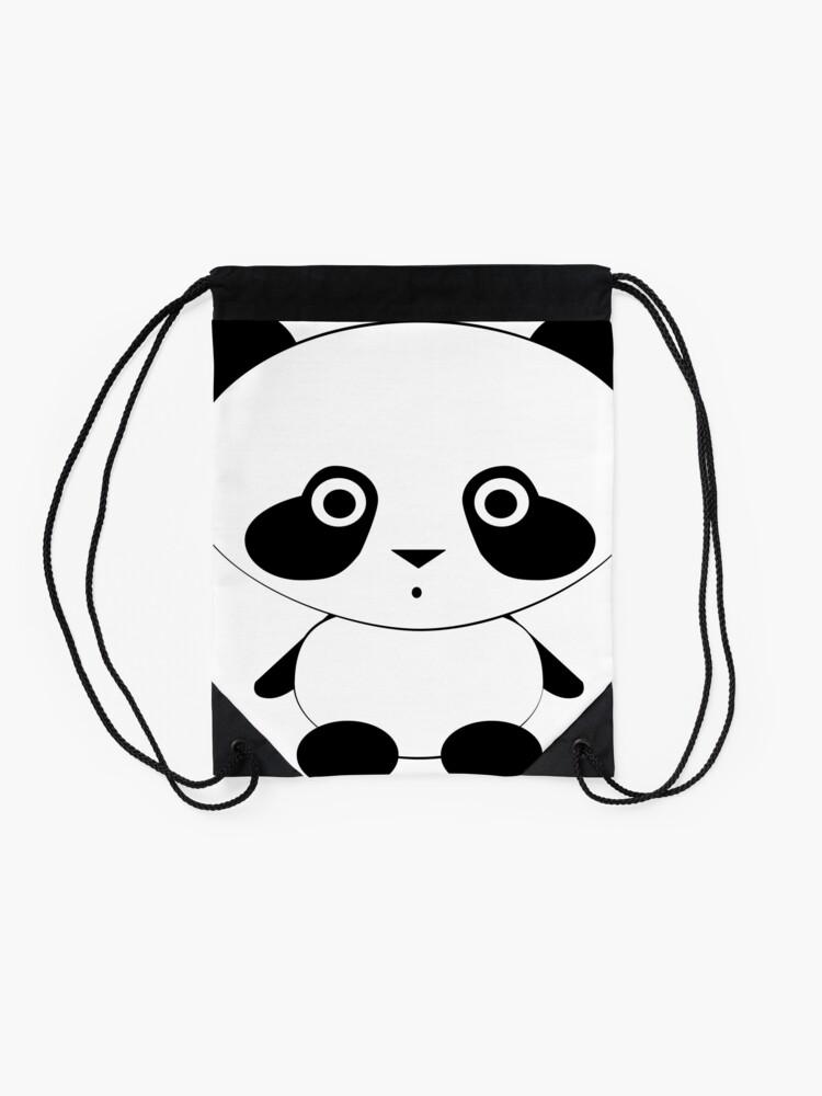 Alternate view of Cute Panda Bear Drawstring Bag