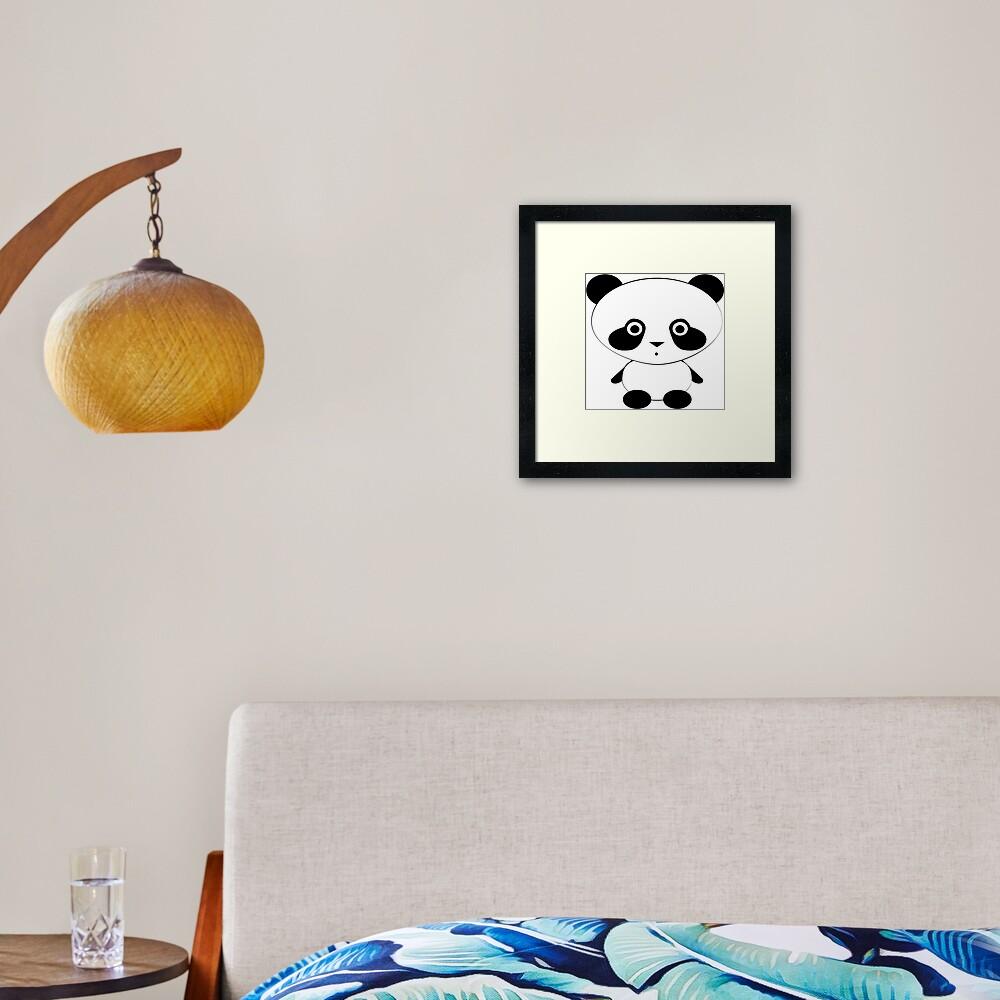 Cute Panda Bear Framed Art Print