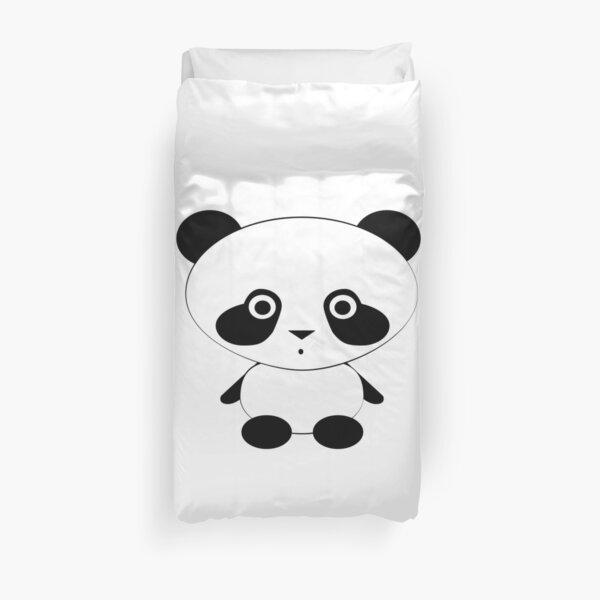 Cute Panda Bear Duvet Cover