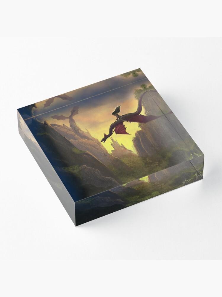 Alternate view of Dragon Rider Acrylic Block