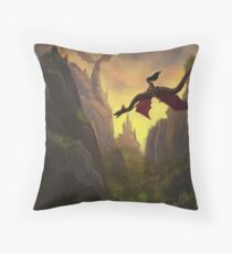 Dragon Rider Throw Pillow