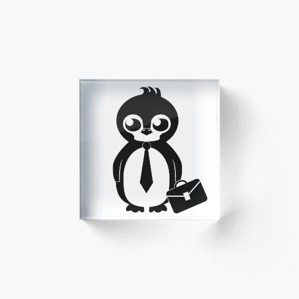 Business Penguin Acrylic Block