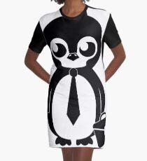 Business Penguin Graphic T-Shirt Dress