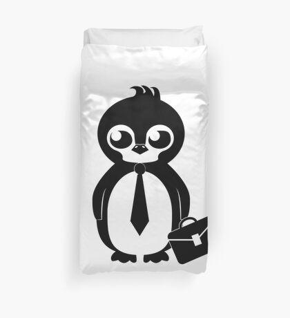 Business Penguin Duvet Cover