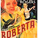 Vintage Hollywood Nostalgia Roberta Fred Astaire Film Movie Advertisement Poster by jnniepce