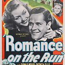 Vintage Hollywood Nostalgia Romance on the Run Film Movie Advertisement Poster by jnniepce