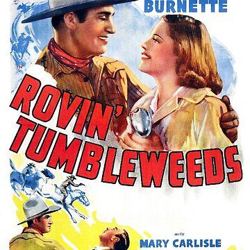 Vintage Hollywood Nostalgia Rovin Tumbleweeds Gene Autry Film Movie Advertisement Poster by jnniepce